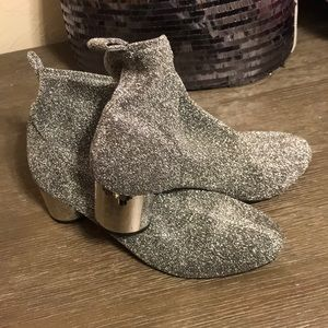 Good Used Condition JustFab Glitter Booties!